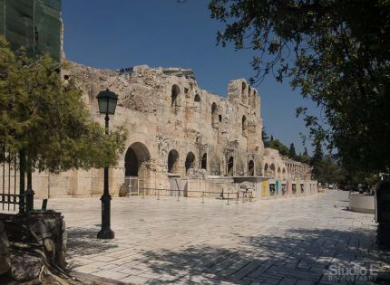 Ancient Theatre Odeion Of Herodes Atticus