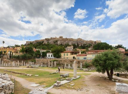 Roman Agora With View To Acropolis